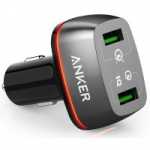 зарядка ANKER PowerDrive+ 2 with Quick Charge 3.0 V3 (Black)