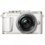 OLYMPUS E-PL9 14-42 mm Pancake Zoom Kit white/silver
